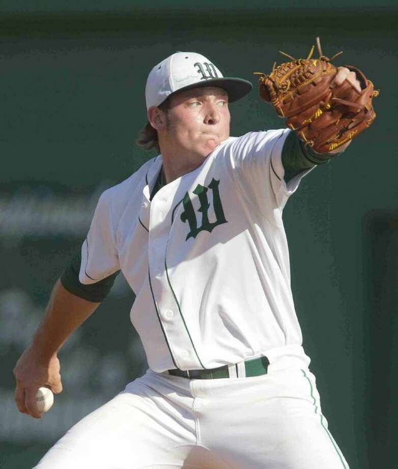 The Woodlands pitcher-first baseman Chris Andritsos is The Courier's Montgomery County Player of the Year. Andritsos was undefeated in 10 decisions on the mound and batted .453 with 11 home runs.