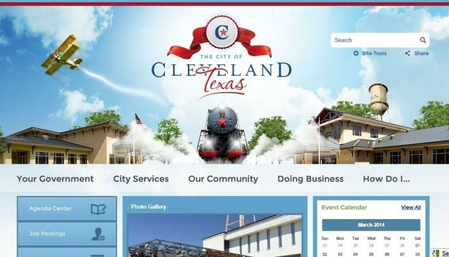 The city of Cleveland's new website has helpful links for residents and businesses in the area, a calendar of events and a list of city services. Photo: Screen Captured Image