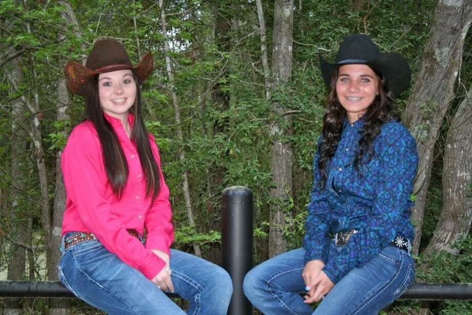 Paige Padgett (left) and Paige Montgomery (right) are the two candidates for the 2014 Cleveland Livestock Show Dairy Day Queens Contest. The winner will be crowned on the evening of Saturday, April 5, at Stancil Park. Photo: Submitted Photo