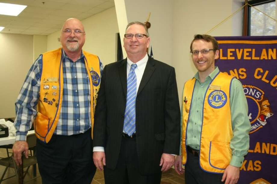 Attorney Lloyd J. Culp attended the March 25 meeting of the Cleveland Lions Club. While there, he spoke with club member Tim Holder and Lion's Club President Taylor Heilers.