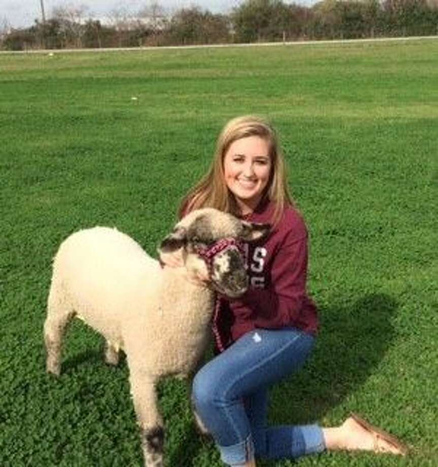 The Firethorne Stampede purchased the fourth place lamb raised by Lexi Wheeler, above, at this year's Katy ISD FFA Livestock Show & Rodeo