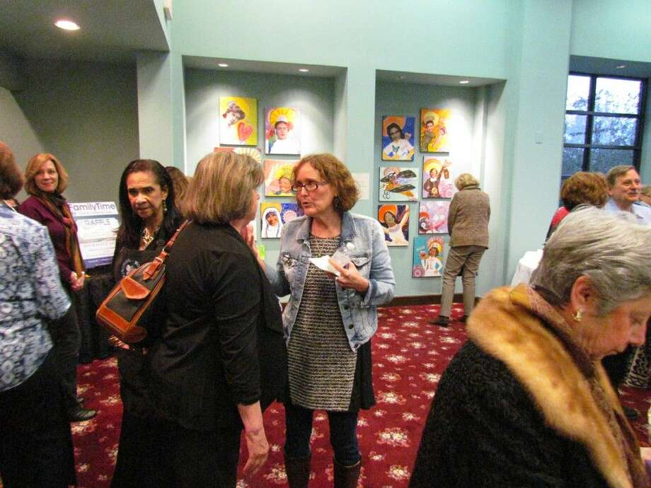 """Dr. Melissa Young hosted a """"Spirited Women"""" art exhibit on Feb. 26, 2015 in the event Room at Face It! Med Spa located at 21 North Main Street in Kingwood Town Center."""