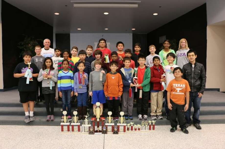 The Hassler Math Club recently showed off their awards. Photo: Submitted Photo