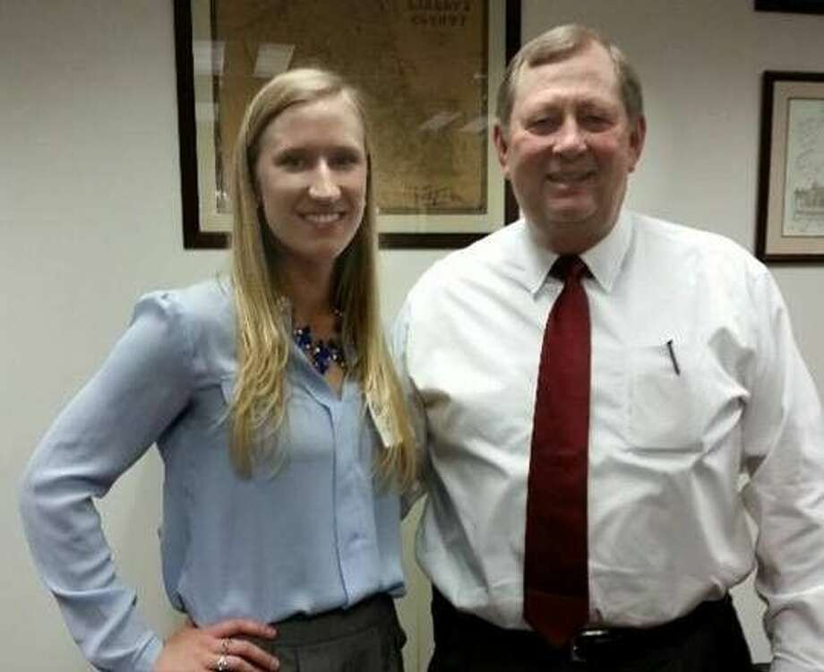 Tarkington resident Hannah Taylor is pushing for state legislators to make cancer a top state priority. She is pictured with State Rep. John Otto during a recent visit. Photo: Submitted