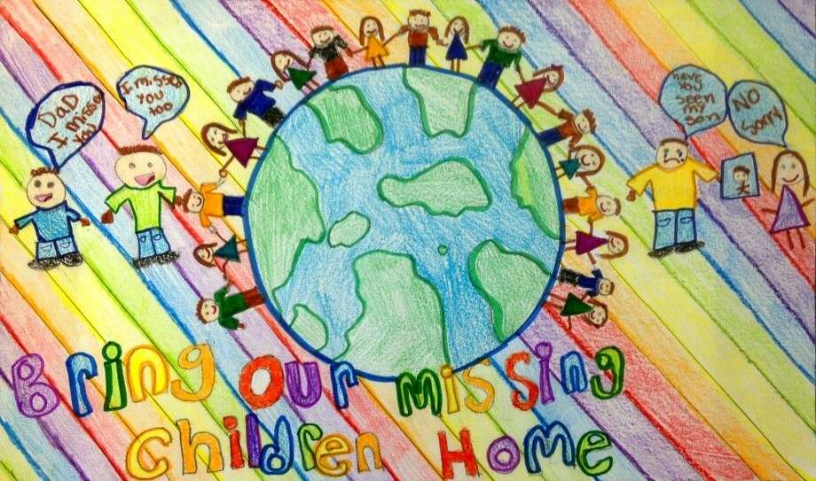 Alexis Alvarado, a fifth grade student from Bryan, Texas, created this artwork for the National Missing Children's Day Poster Contest. She was chosen to represent the state of Texas in the contest. Photo: Submitted
