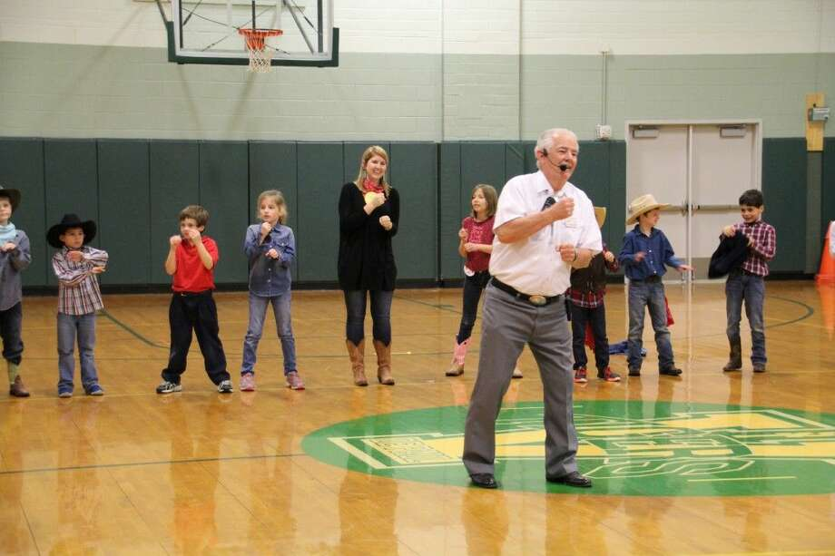 St. Vincent de Paul Catholic School students celebrated Go Texan Day last week. Students dressed in hats, boots, and jeans and learned square dancing during P.E. from professional square dancers.