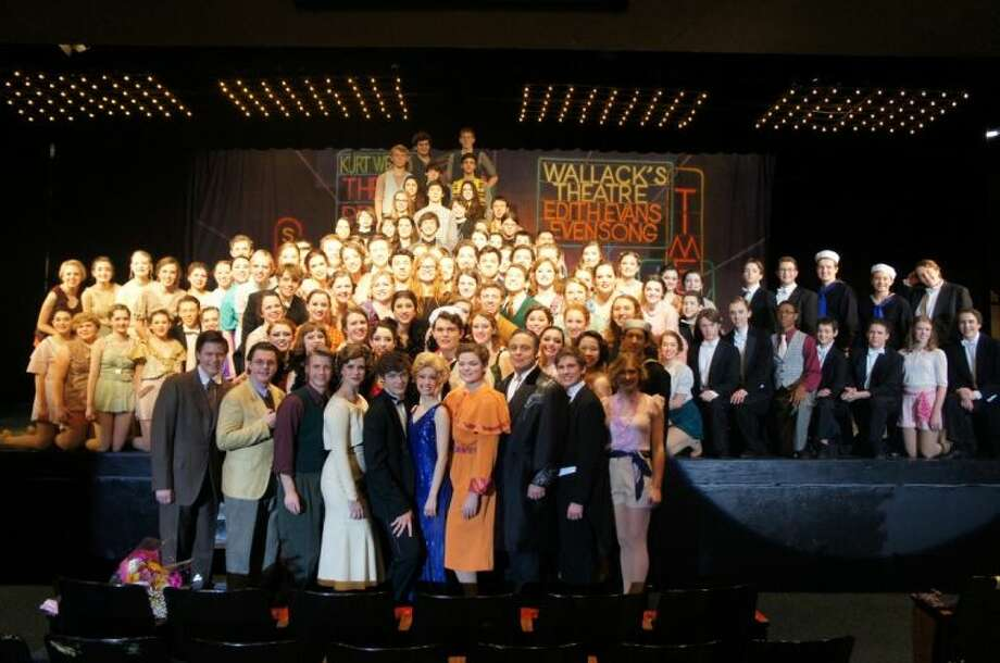 The full cast and crew of 42nd Street. Photo: Courtesy Friendswood ISD