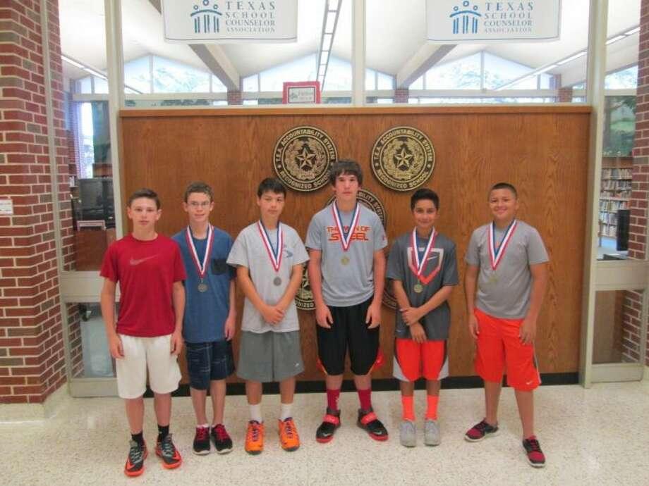 From L-R, Luke Schaper, Jeremy Yarbrough, Broc Weidner, Bryce Mead, Josh Ramirez and Patrick Hernandez bagged a North Zone tennis crown. Photo: Courtesy Photo