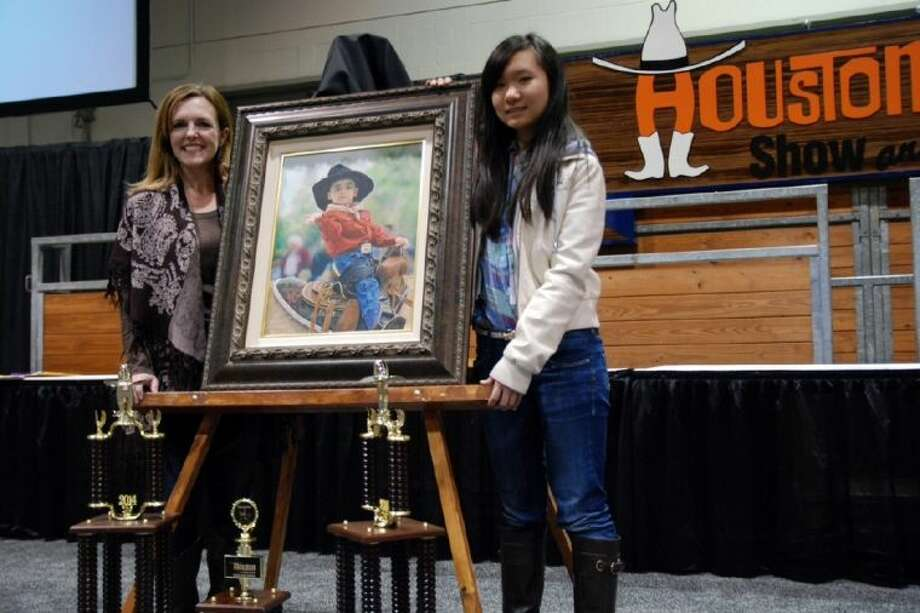 "Chen's painting, titled ""Wanna Ride?"" won reserve grand champion out of about 300,000 entries. Photo: Submitted Photo"