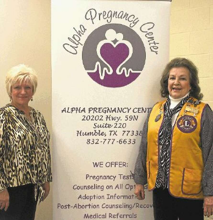 Charlotte Earhart, executive director of Alpha Pregnancy Center in Humble, gave a speech to the Cleveland Lions Club on March 18 after being inviting by club member Beverly Ericks. Photo: STEPHANIE BUCKNER / @WireImgId=2667976