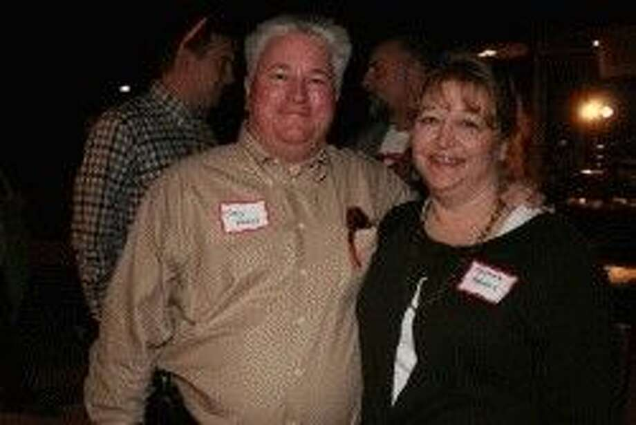 Brazoria County Commissioner Stacy Adams and wife Michele enjoy Brazoria County Day in Austin.
