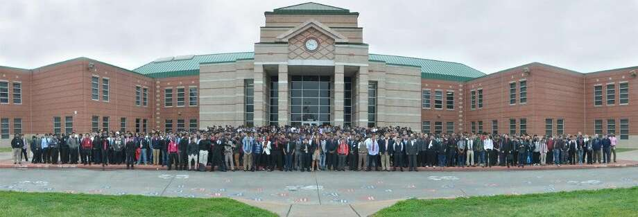 Approximately 1,200 male students at Cypress Springs High School joined the Thousand Guys in Ties celebration, hosted by the Men of Honor, March 3-6. Photo: Submitted Photo