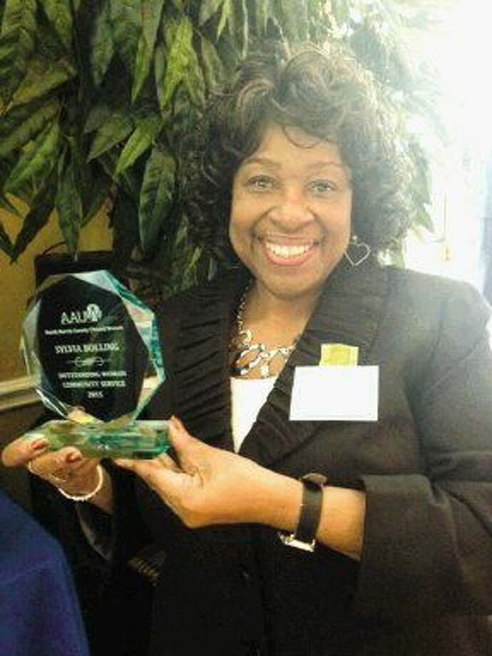 Sylvia Bolling of Humble, was awarded as the Outstanding Woman of 2015 in the area of Community Service by the NHC American Association of University Women.