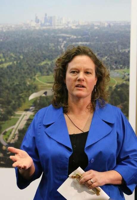 Shellye Arnold, Executive Director, Memorial Park Conservancy. Photo: Staff Photo By Alan Warren