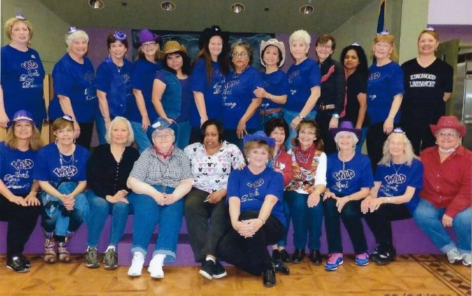 "Pictured here are dedicated dancers that performed at St. Martha's, along with members of the staff, who ""stepped up"" to dance with the performers."