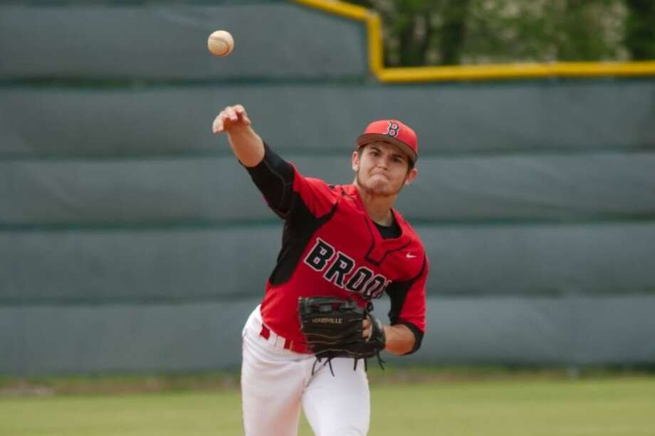Clear Brook's Matt Svehla (2) fired a one-hitter against Clear Lake Saturday to enhance the Wolverines' playoff chances. Photo: KIRK SIDES