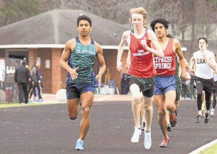 College Park's Luis Nieto, left, and The Woodlands' Noah Wells are among Montgomery County's top athletes in the 800-meter run.