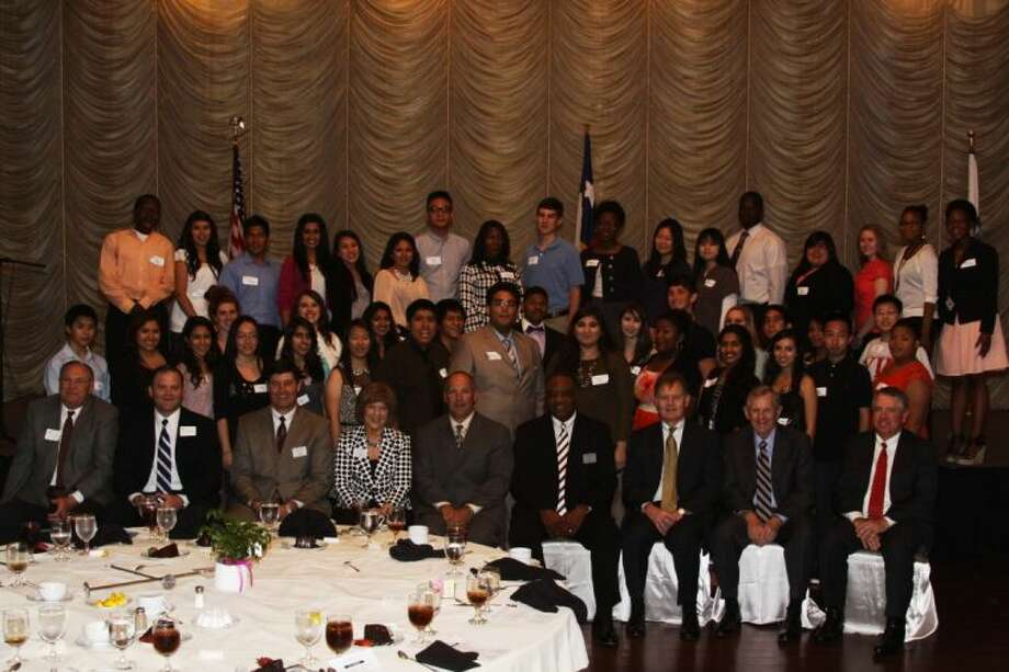 A group photo from a previous Youth In Philanthropy Scholarship Award Luncheon. Photo: Fort Bend Chamber Of Commerce