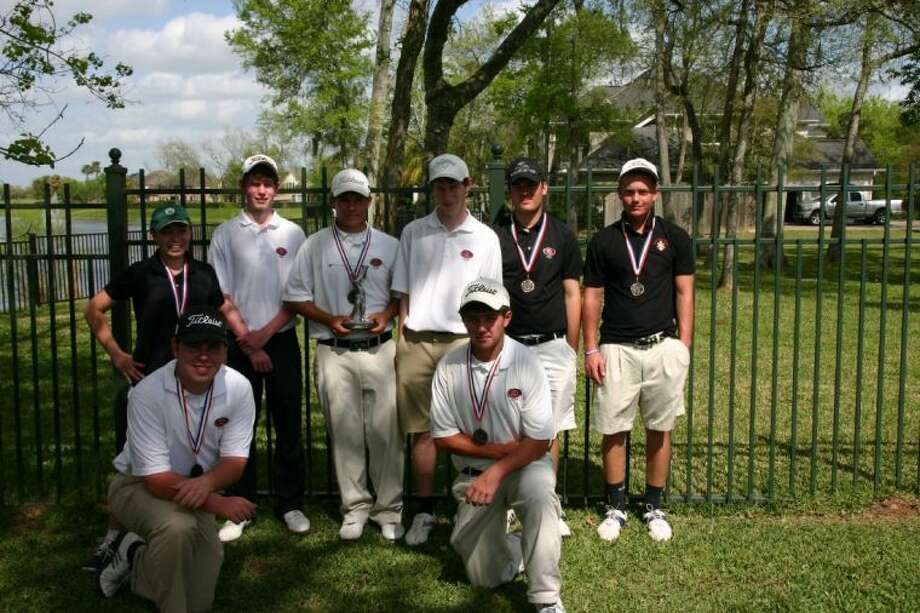 The Pope John XXIII golf team won the first district championship in school history March 31 at Sienna Plantation. Photo: Submitted Photo
