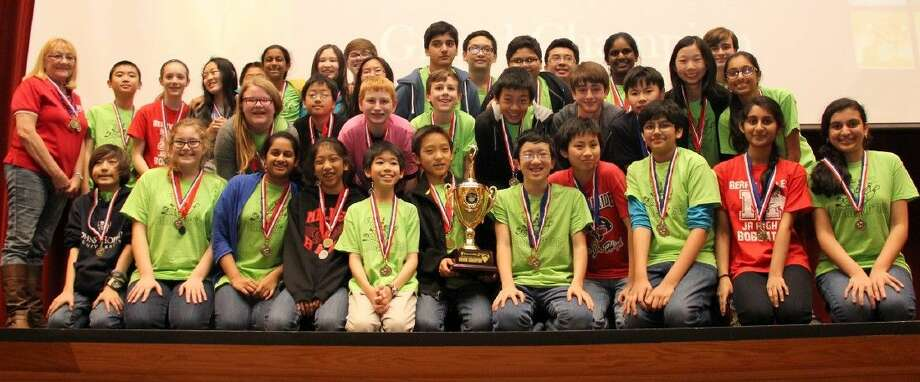 Berry Miller Junior High won the Quiz Bowl grand championship for the second consecutive year.