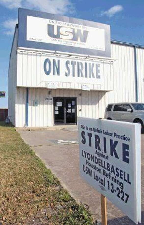 USW hall in Pasadena. The steelworkers have been on strike since Feb. 1. Photo: Kar B Hlava