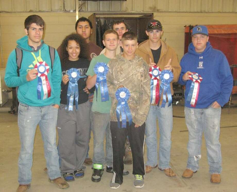 Seven New Caney HS welding students received Superior Blue Ribbon ratings and two students received Red Ribbon Excellent ratings at a recent state conference in Corpus Christi. Photo: Submitted Photo