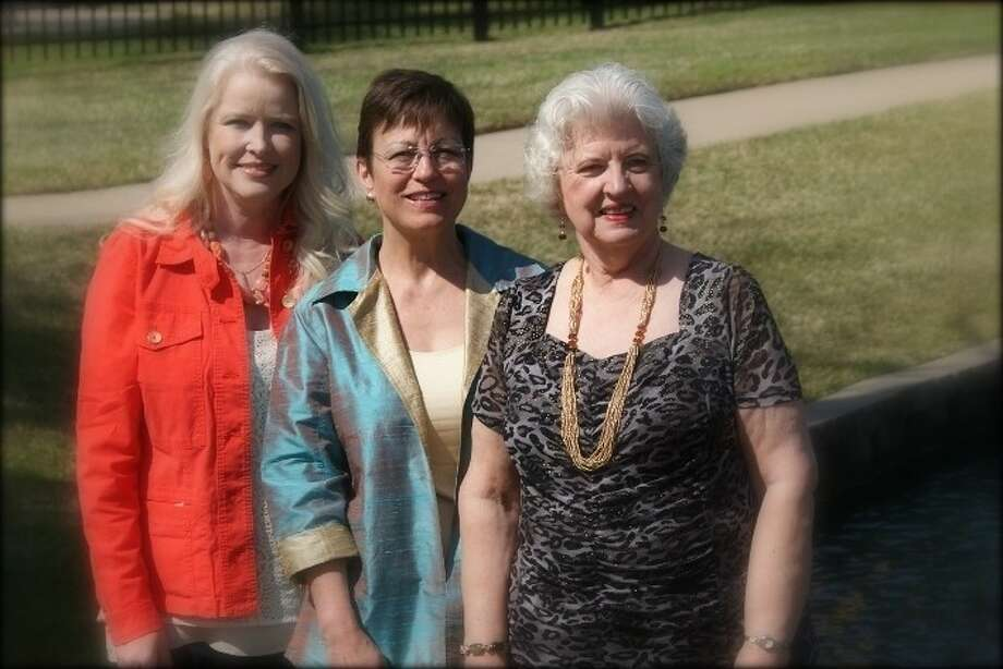 (Left to right): Nancy Frank, FBFN Foundation president; Jan Bethancourt, speaker/author; and Carole Kanusky, 1st President Luncheons, Fort Bend Friends and Neighbors. Not pictured is Dr. Charles Dupree, FBISD superintendent. Photo: Submitted Photo