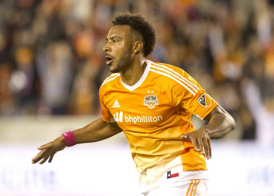 Houston Dynamo forward Giles Barnes is the new brand ambassador of BBVA Compass. Photo: Jason Fochtman