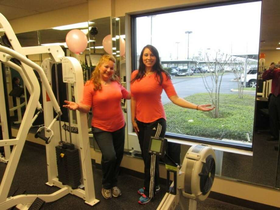 Andrea Walker, left and Jessica Labrada show off the new look of the Wellness Center.