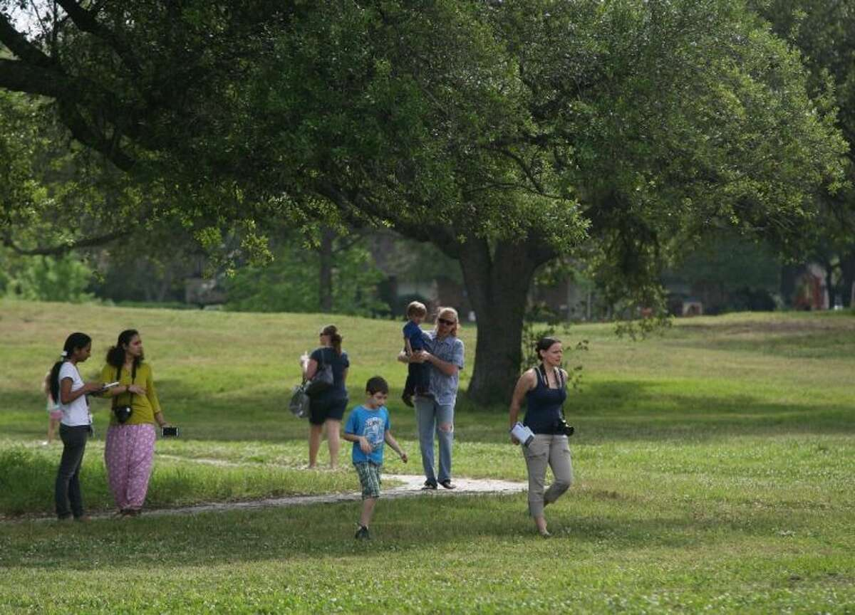 During the Exploration Green event people walked around the old Clear Lake golf course that would soon be converted into an open space and park.