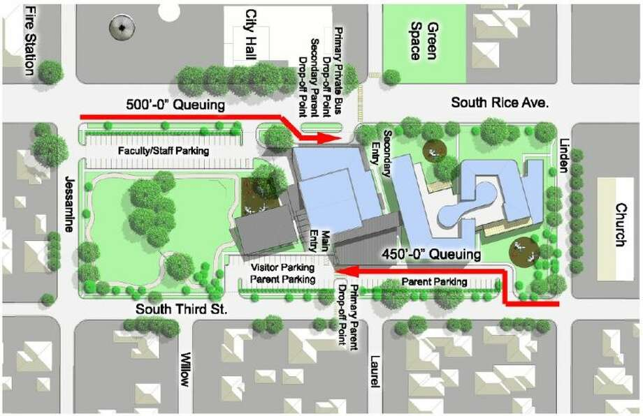 Proposed parking, queues for the new Condit Elementary School