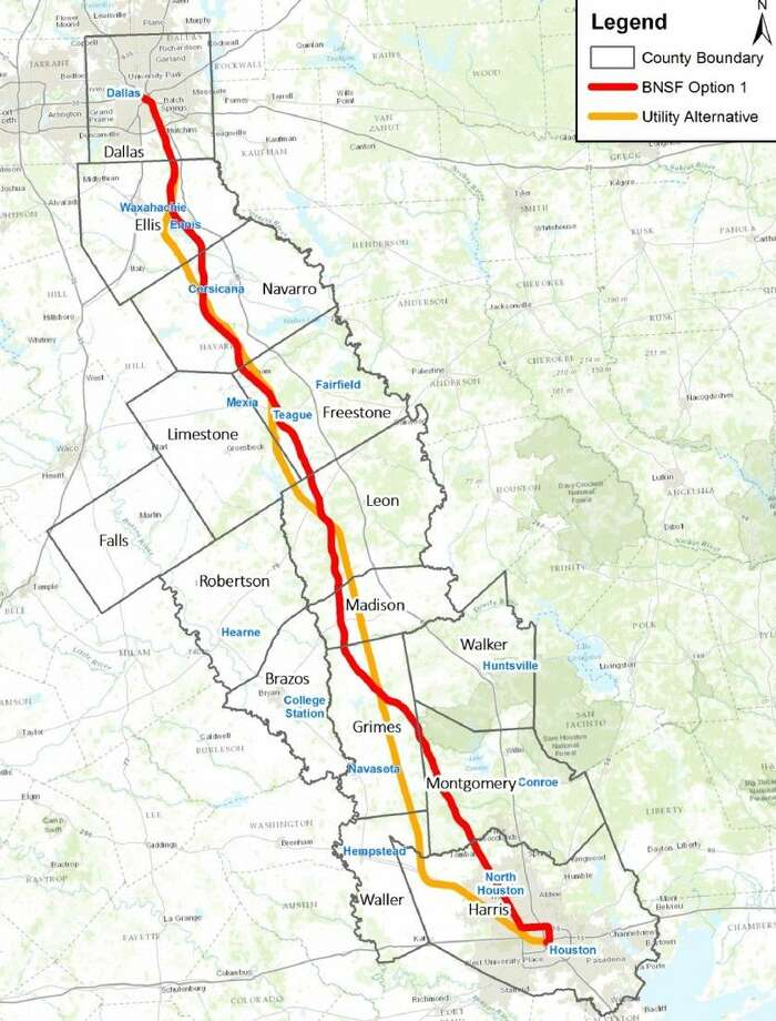 Houston And Dallas Map.High Speed Rail Would Connect Houston Dallas Houston Chronicle