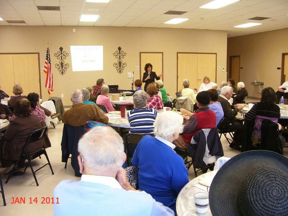Toni King speaks to seniors at a recent workshop.
