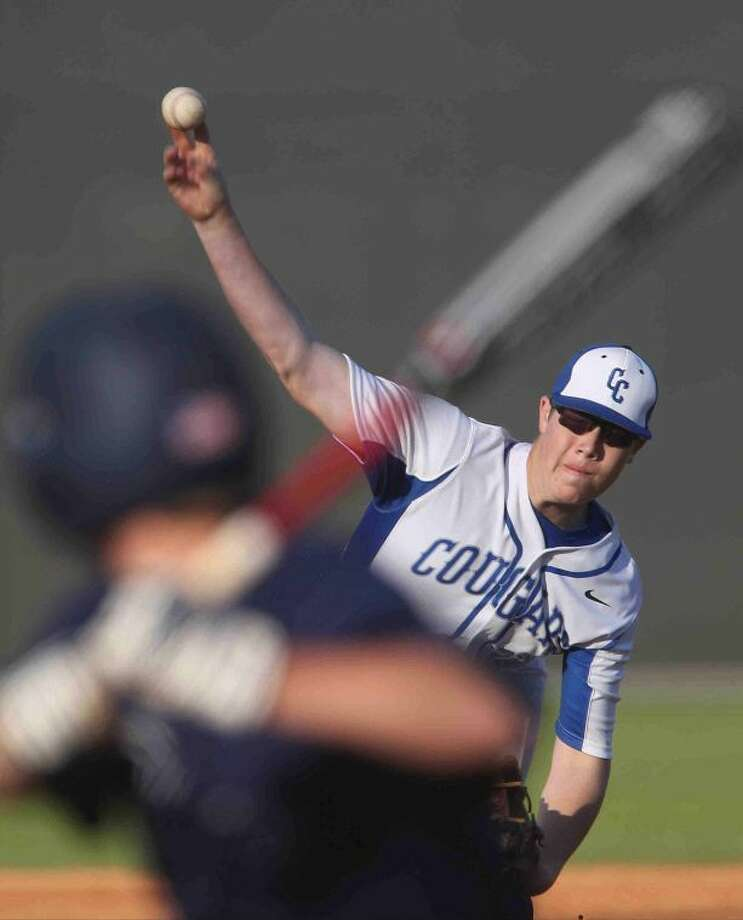 Cy Creek pitcher JP Miller is pictured. Photo: Jason Fochtman