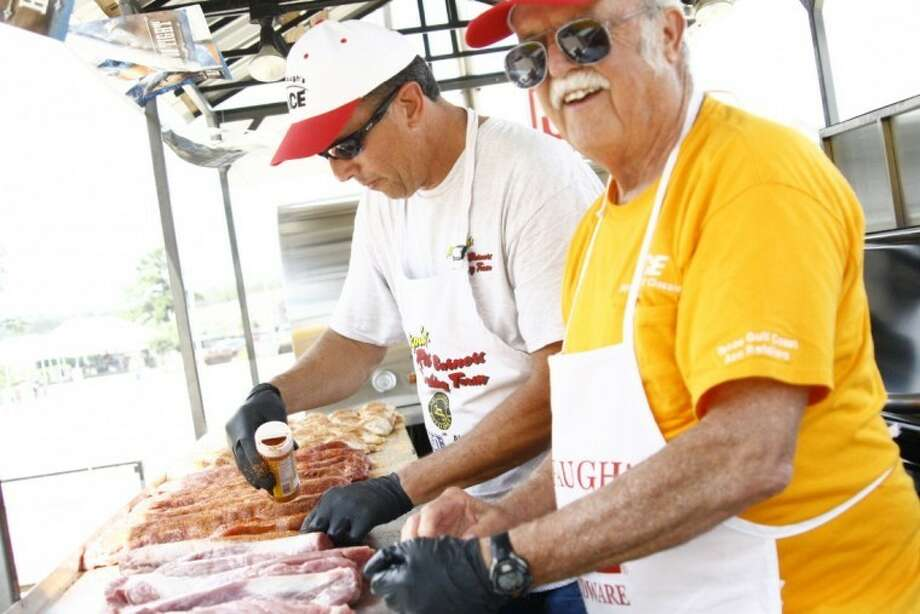 Cooking teams will fill the parking lot of the Harley-Davidson of Kingwood to raise money for Family Promise of Lake Houston April 26, 2014.