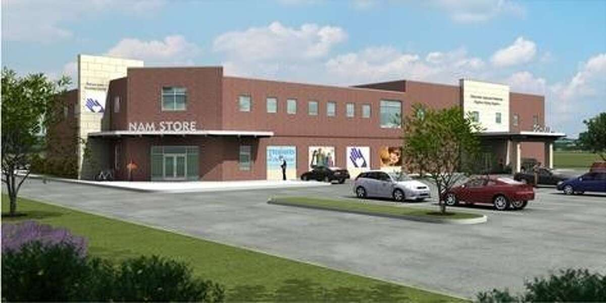 An architect's rendering of Northwest Assistance Ministries' planned Retail and Training Center. Thanks to gifts from the David Weekley Family Foundation and The Medallion Foundation, the building campaign is now at 93 percent of its fundraising goal.
