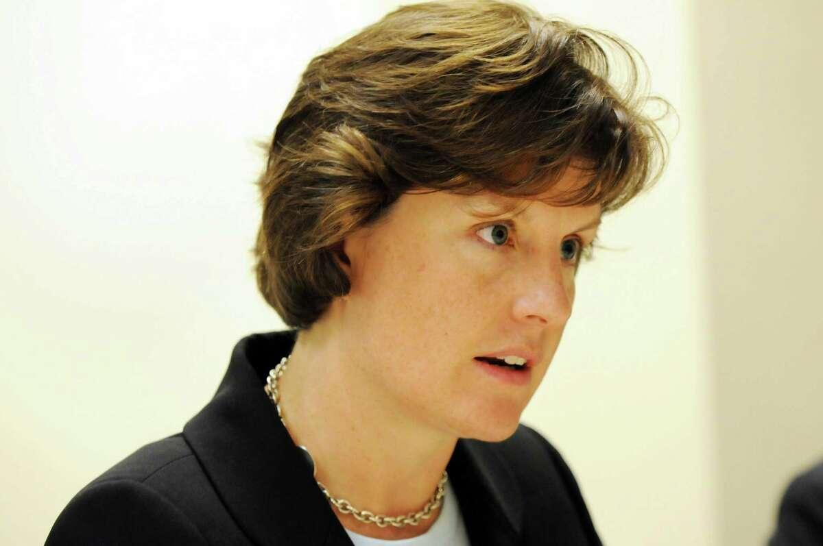 Syracuse Mayor Stephanie Miner speaks during an editorial board meeting Tuesday, Sept. 27, 2011, in Colonie, N.Y. (Will Waldron / Times Union archive)