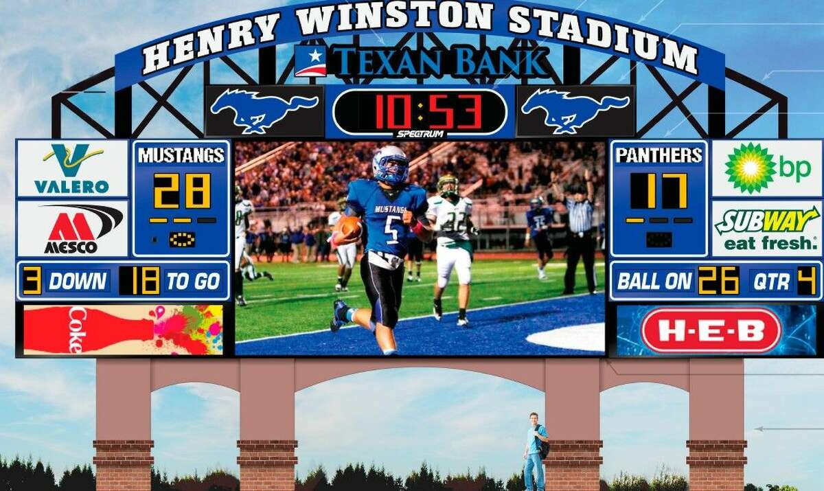 The Friendswood ISD Board of Trustees approved funding of $459,910 for a new video scoreboard for Henry Winston Stadium at its March 9 meeting. District officials plan to sell signage and digital ads that are expected to repay the original cost within five years and go on to generate estimated profits of $400,000 within ten years.