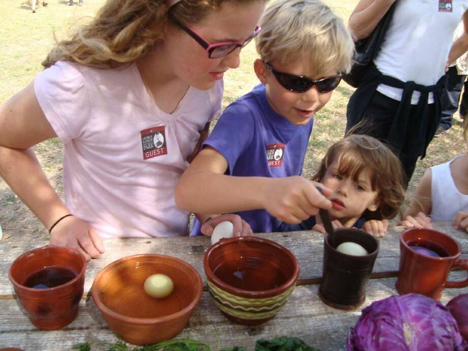 Enjoy dyeing eggs with natural dyes.