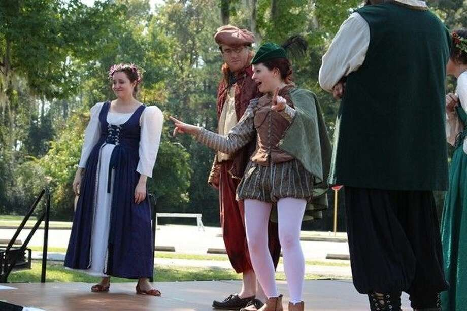 """Haley Cooper gives a preview performance of """"As You Like It"""" at Burroughs Park. Photo: Submitted"""