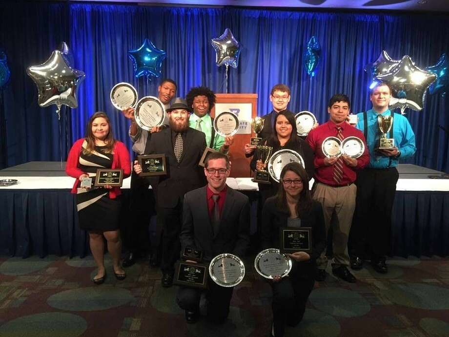 Members of the Lee College Debate Team are pictured after the 2015 IPDA National Championship Tournament in Boise, Idaho. They are (front row, left to right) Cody Bijou (captain), Reagan Dobbs (captain); (second row) Joselyn Mendoza, Shawn Start, Emily Trevino, Rigo Ruiz; (back row) Himmler Assing, Dax Ramgoolam, Brandon Reinertsen and Kyle Diamond. Photo: Submitted