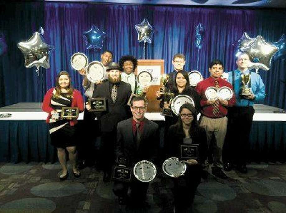 Members of the Lee College Debate Team after the 2015 IPDA National Championship Tournament in Boise, Idaho. Pictured from left to right in the front row are Cody Bijou (captain) and Reagan Dobbs (captain). Pictured from left to right in the second row are Joselyn Mendoza, Shawn Start, Emily Trevino and Rigo Ruiz. Pictured from left to right in the back row are Himmler Assing, Dax Ramgoolam, Brandon Reinertsen and Kyle Diamond.