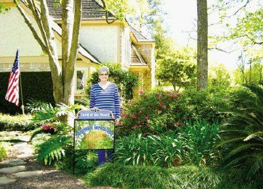 The Kingwood Garden Club's April Yard of the Month award goes to Judy and Byron Lewis's home landscape at 3435 Tree Lane in Bear Branch.