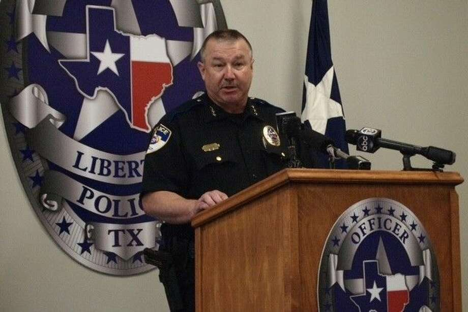 Liberty Police Chief Thomas Claunch shares a few details about an officer-involved shooting that occurred on Friday, April 3, at a press conference.