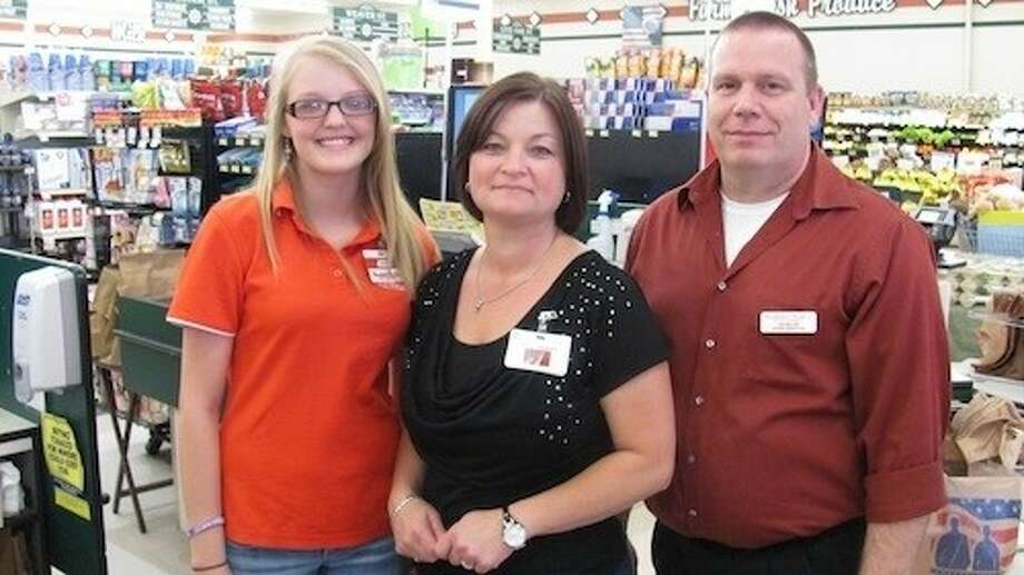 Brookshire Brothers sponsored a donation drive for Coldspring Public Library in April. Customers in the checkout lines were given the opportunity to make contributions for $1, $5 or more to the library. Brookshire Brothers rewarded the cashiers who raised the most money for the library by providing them with a 25 gift card. Pictured are Mr. Miller, the store manager; Sheila Mosley, assistant manager; and Jane Wiggins. Photo: Submitted Photo