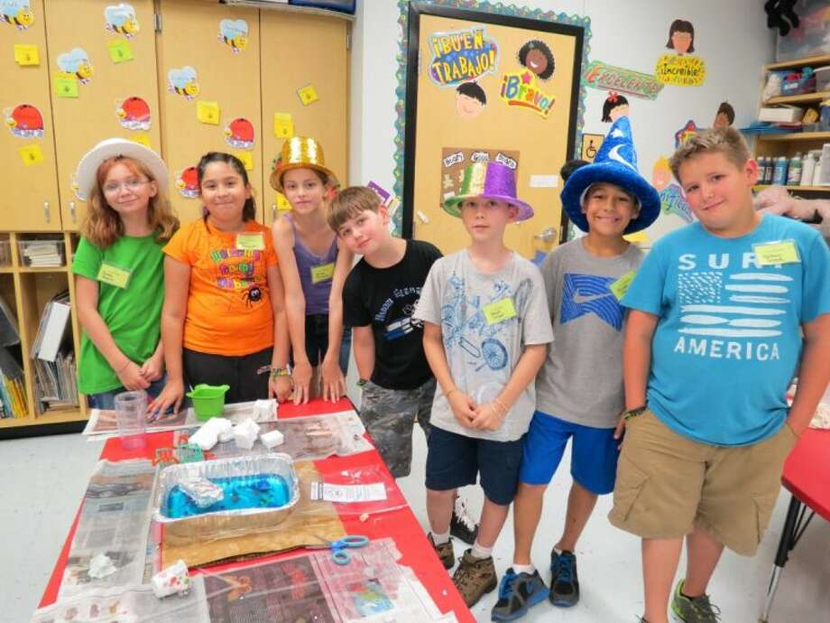 Last year's Camp Invention at Liberty ISD included Jenecca Rogers, Avril Hernandez, Kenna Johnson, Chase Contreras, Daniel LaCour, Mason Goudeau and Nathan Greak. Photo: Submitted Photo