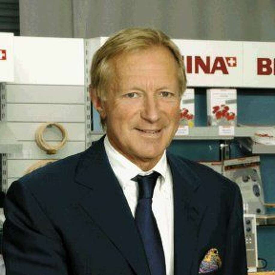 Hanspeter Ueltschi, owner of BERNINA International, will visit It's a Stitch, a BERNINA dealer in Humble, on Tuesday, April 21.