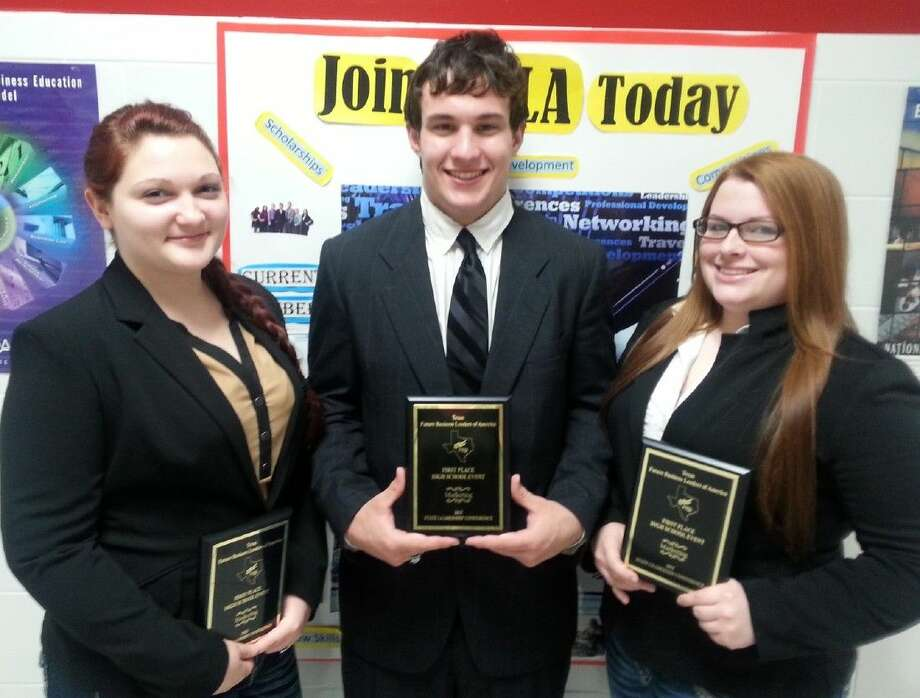 Mikalyn Baxley, Anthony Lamb and Kalyn West took first place in Marketing.
