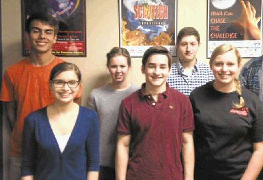 Students from the Conroe ISD Academy of Science and Technology automatically qualified for the Intel International Science and Engineering Fair in Philadelphia. Front row from left: Christine Castagna, Michael Bohnet and Maggie Steiner. Back row from left: Matthew Frangos, Reagan Spexarth and Matthew Caffet.