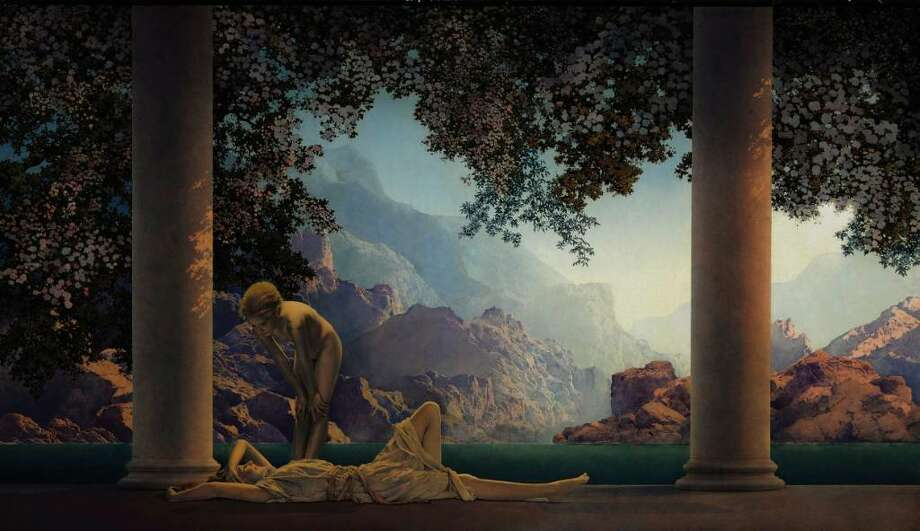 """Daybreak"" by American illustrator and artist Maxfield Parrish. The painting is selling at Christie's International on May 20 and is estimated to fetch $4 million to $7 million. The work is part of a $15 million Parrish collection being sold on behalf of Mel and Robyn Gibson. Source: Christie's via Bloomberg Photo: Via Bloomberg / Christie's"